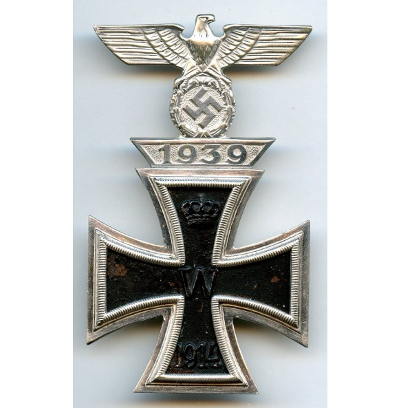 """Iron cross 1st class combination clasp by B.H. Mayer """"L/18"""""""