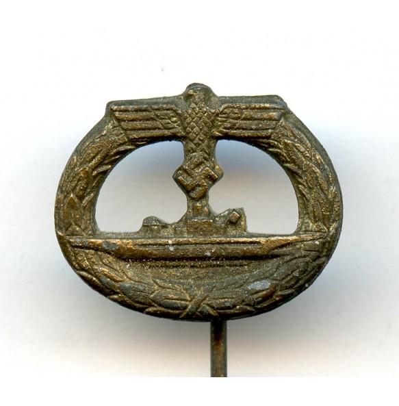 Kriegsmarine U-boat badge 16mm miniature