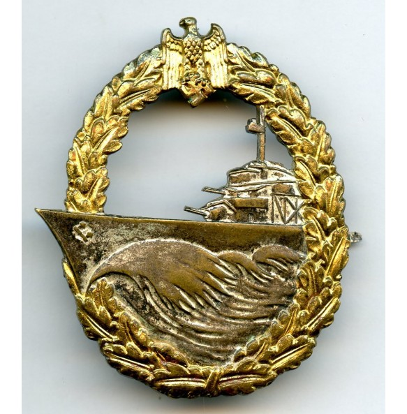 Kriegsmarine destroyer badge by C.E. Juncker