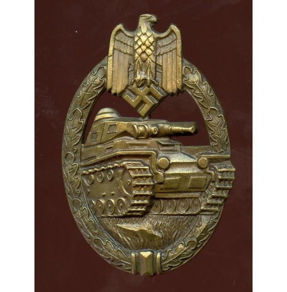 "Panzer assault badge in bronze by K. Wurster ""w"""