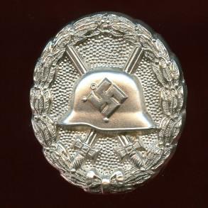 """Wound badge in silver, 1st pattern """"hohlverbödet"""""""