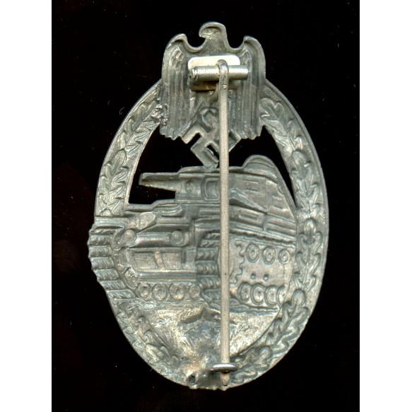 Panzer assault badge in silver by P. Meybauer, 1st pattern!