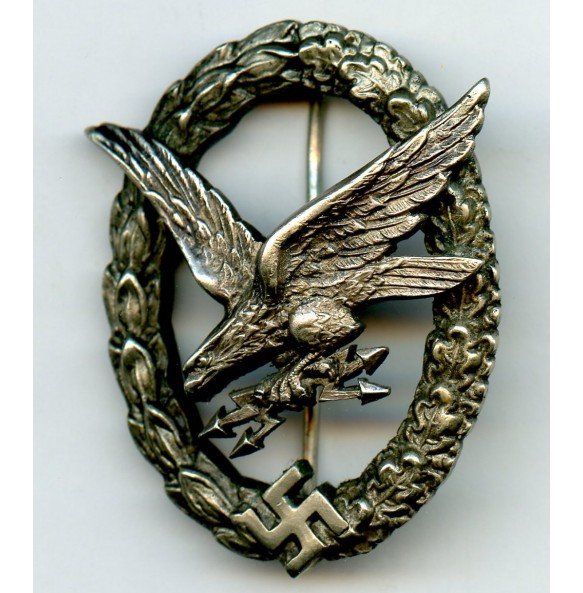 Luftwaffe Radio Operator / Airgunner badge by C.E. Juncker
