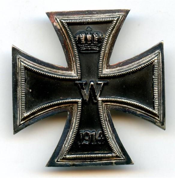 WW1 Iron cross 1st class by Friedrich Linden