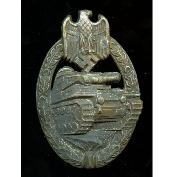 Panzer assault badge in silver by W. Deumer