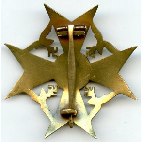 Spanish cross in bronze w/o swords by unknown maker