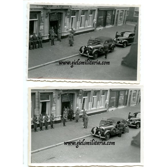 5 private snapshots Erwin Rommel in Breda, Holland 1944