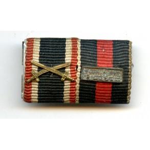 1st October 1938 Czech annexation medal + Prague bar ribbon bar