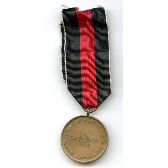 1st October 1938 Czech annexation medal + Prague bar