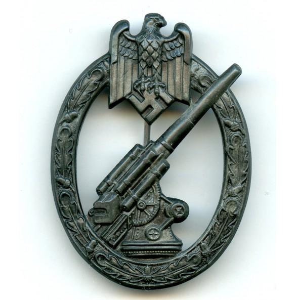 "Army flak badge by Hermann Aurich ""HA"""
