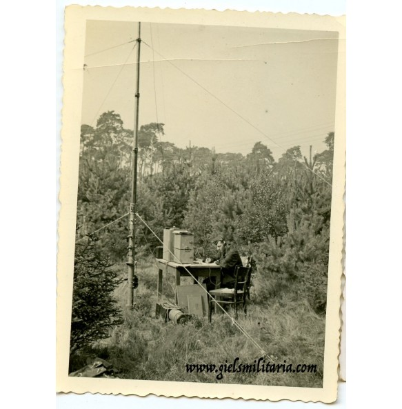 Private snapshot mobile radio tower in the field