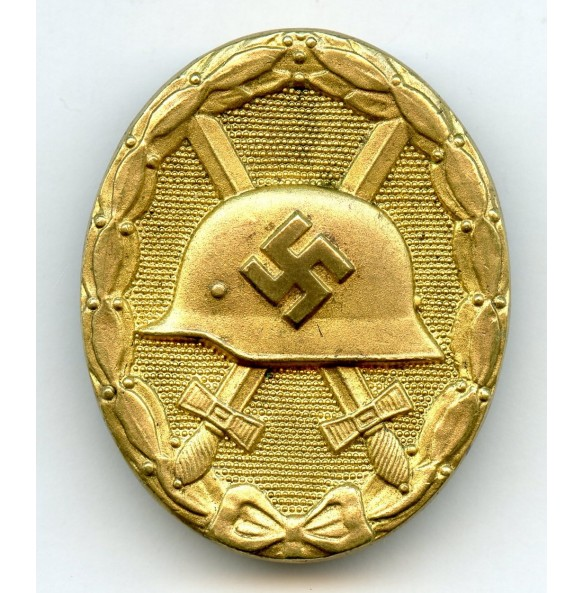 "Wound badge in gold by Grossmann & Co ""11"""
