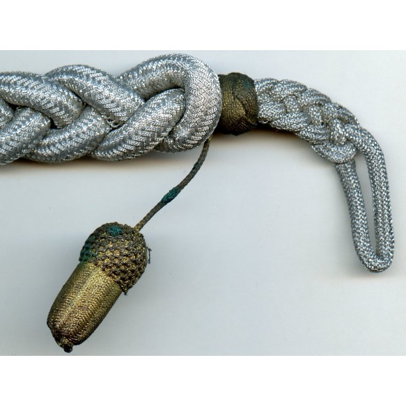 Army shooting lanyard gold grade with 1 acorn