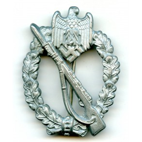 """Infantry assault badge in silver by F.A. Assmann & Söhne """"2"""""""