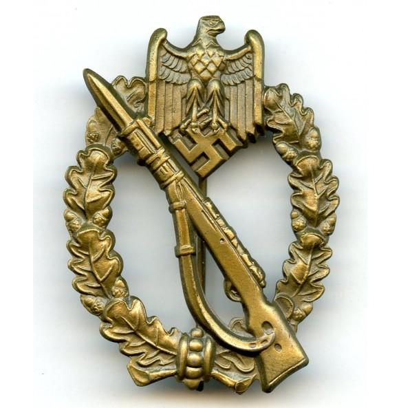 """Infantry assault badge in bronze E.F. Wiedmann """"ÜÜ"""""""