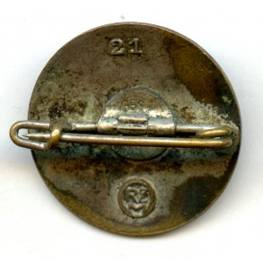 """Party pin by Paul Meybauer """"21"""""""