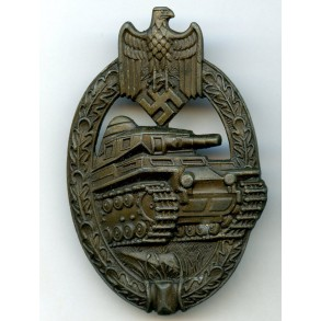 """Panzer assault Badge in bronze """"AS in triangle"""""""