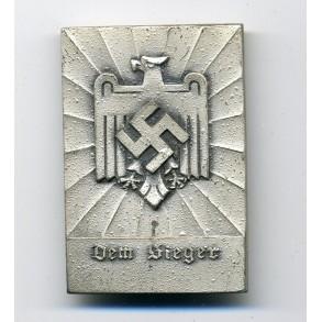 Hitler Jugend DLV honour award plaque