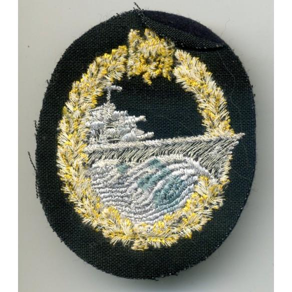 Destroyer badge in cloth