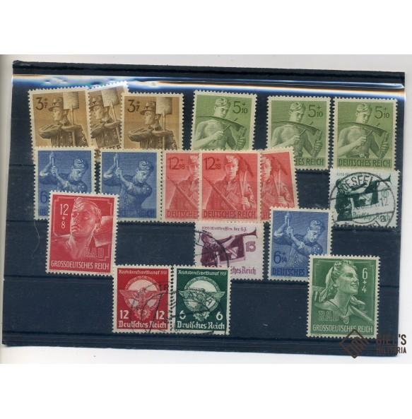 Stamp collection Third Reich