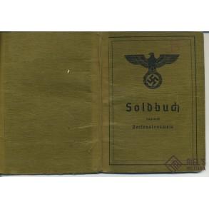 Soldbuch to gefreiter Martin Bohs