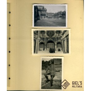 Photo album destroyed France 1940, Duinkerke, Paris, Lyon,...