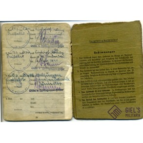 "Soldbuch to H. Rode, Jagdkommandogruppe ""Eichenlaub"", Stg44 entry!!"