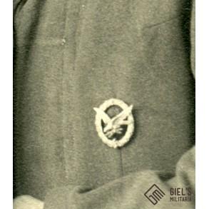 Portrait photo Luftwaffe radio operator/airgunner