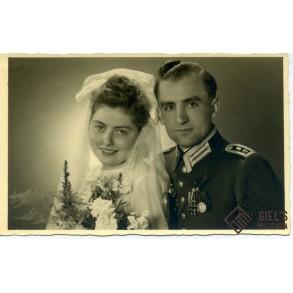 Portrait photo with medal bar EK2, 1943