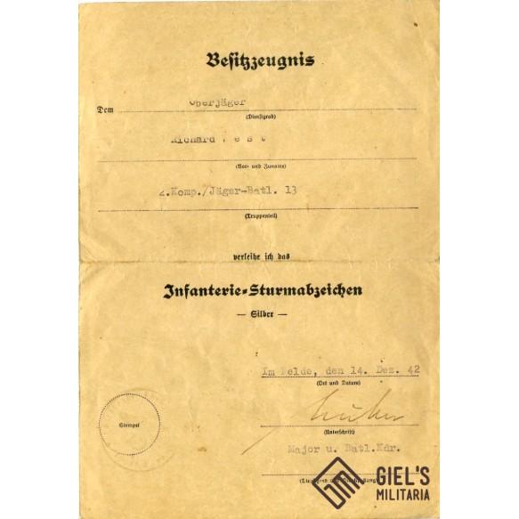 2 award documents to Oberjäger R. Vest, GJR100 in France!!