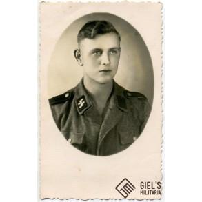 Portrait photo SS Schütze, Czestechowa, Poland 1944