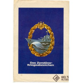 Period advertisement Kriegsmarine Destroyer badge