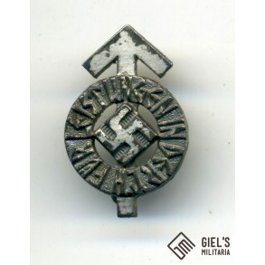 HJ leader badge in silver miniature by K. Wurster