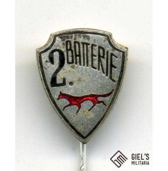 """Artillery """"2. Batterie"""" stickpin"""