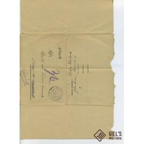 """Communication letters """"von Dombrowski"""", Russian POW camp."""