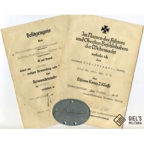 Small grouping to O.Leutnant Ruhaltinger, FJ Pz Art Reg H. Göring. Italy 1943-1944