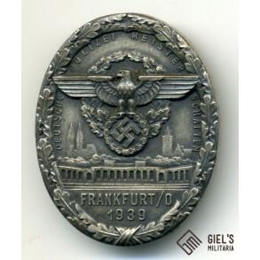 """Police shooting award """"Deutsche Polizeimeisterschaften in Frankfurt/Oder 1939"""""""