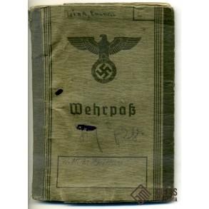 Wehrpass to E. Link, RO/AG JU88, EK1, FFS silver, Russia, Holland 1945!!!