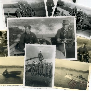 Mountain troopers pionier Sturmboot unit photo lot