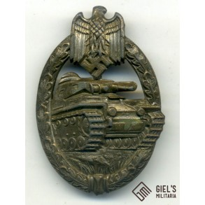 Panzer assault badge in bronze by CE Juncker
