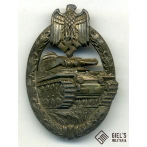 Panzer assault badge in bronze by CE Juncker
