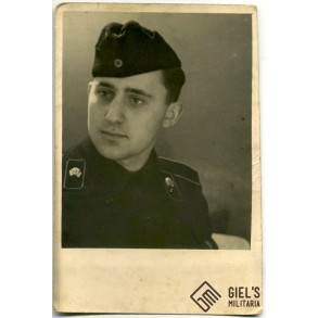 Portrait photo panzermann in black wrapper