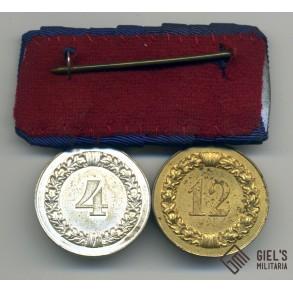 Medal bar 4 + 12 year service awards
