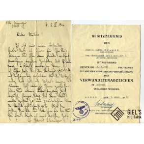 Document grouping to J. Müller, Pz. Observer Batterie 116