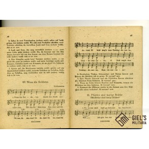 German march song book for soldiers