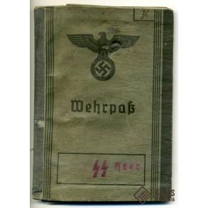 SS Wehrpass to F. Vierling, SS-Totenkopf-Artillerie.Ers.Abt