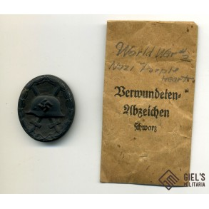 Wound badge in black by Overhoff & Cie + package!