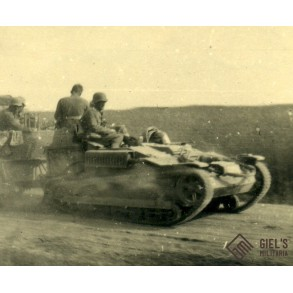 Private snapshot captured allied vehicle