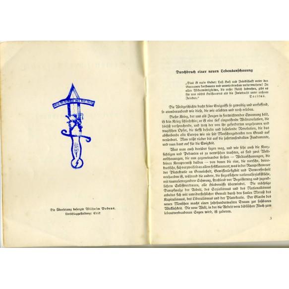 """Pre war Flemish movement lecture: """"Germanischer Aufbruch: Flandern in der neuen Weltordnung"""" 1941"""