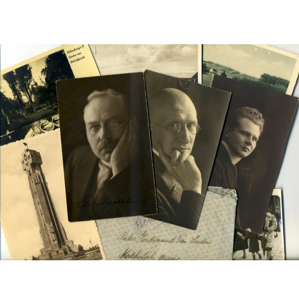 Flemish movement postcard lot, signed photos Daels and Beuckelaere!!!